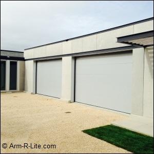 Modern Garage Door Installed by AJ Garage Door & Services