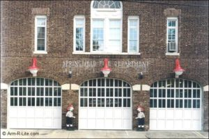 Carriage House Style Fire Department Doors - springfield