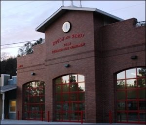 Arched fire station doors - the aluminarc