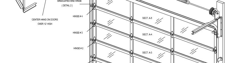 Residential and Commercial Overhead Sectional Garage Door Sizes
