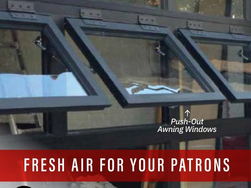 Glass Sectional Doors: Fresh Air for your Patrons