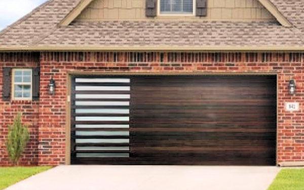 Rosalia Wood Deluxe Garage Door
